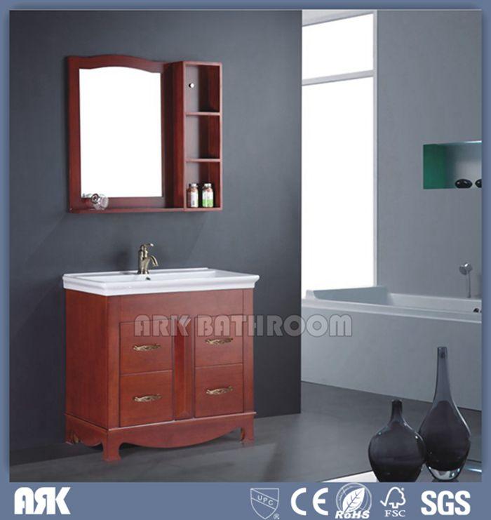 Solid Wood Basin Cabinet Bathroom Sets Hotel Home Depot Bathroom