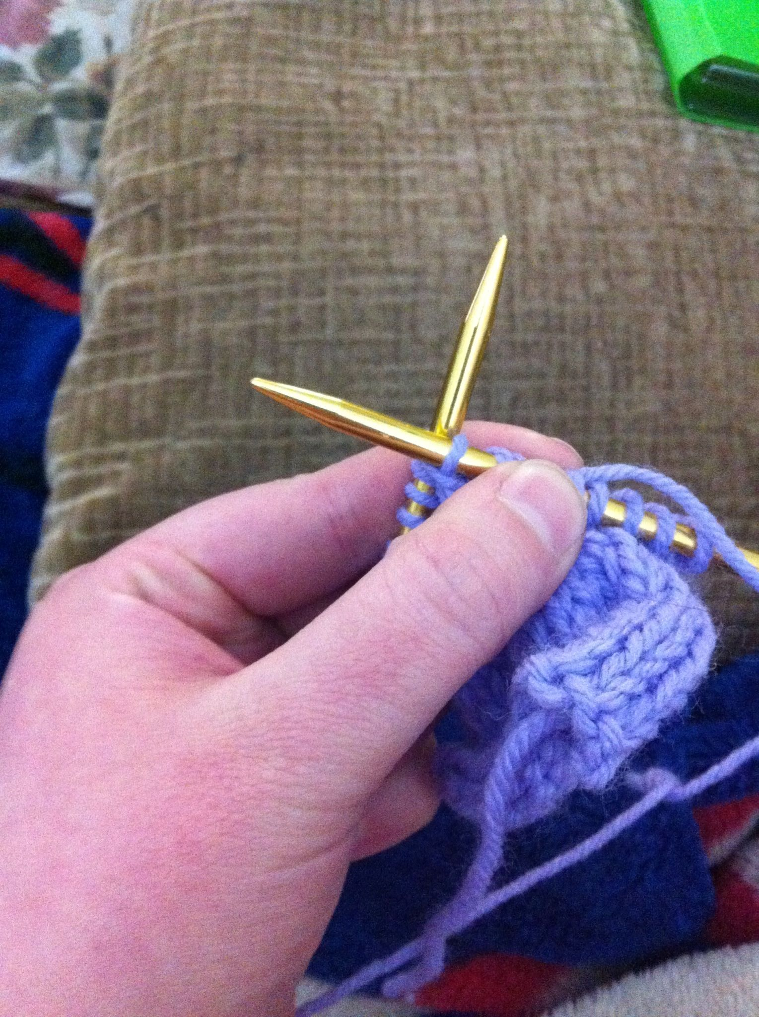 How to Knit a Making One Purl Stitch or M 1 Recipe
