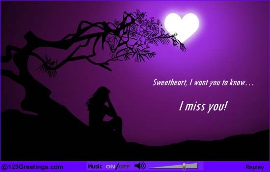 beautiful e card  miss you cards feeling lonely feelings