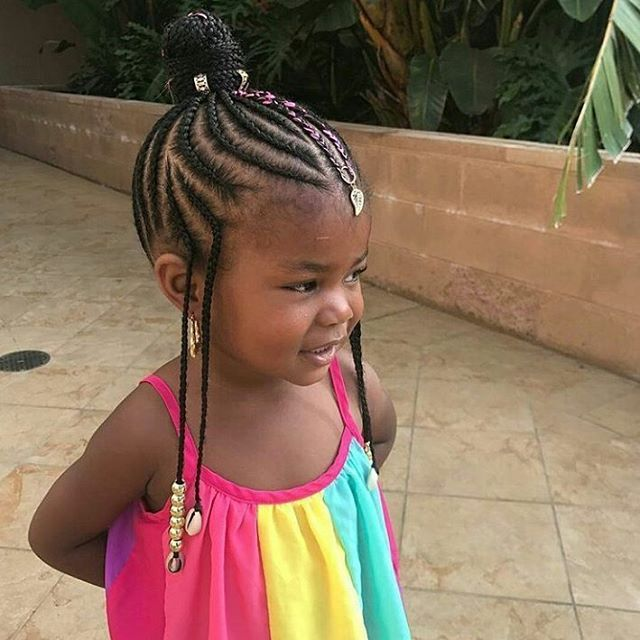 Braids And Beads Updo With My Expert 24 Rastafri Kanekalon Hair Emily Cottontop Hair Styles Little Girl Braids Natural Hairstyles For Kids