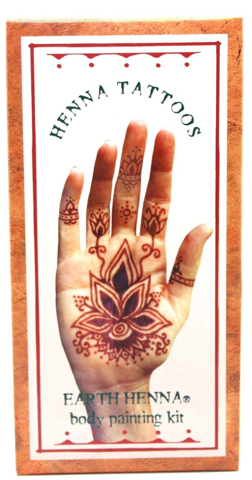 Henna Tattoo Kits For Kids: Details About Lakaye Studio Earth Henna Body Painting Kit