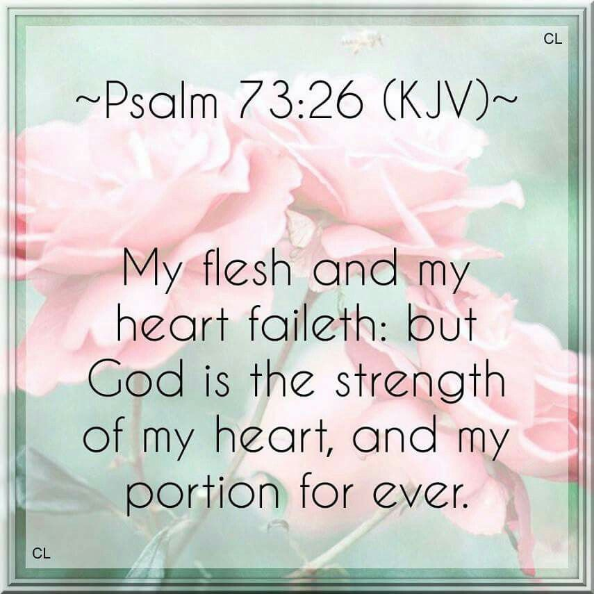 Image result for psalm 73:25-26 kjv