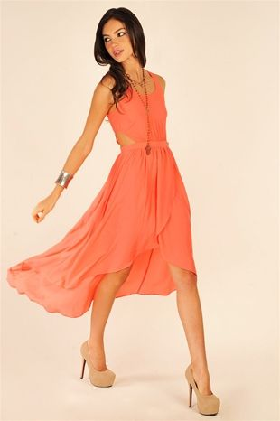 abcc9bc3725 Avery Maxi Dress - Coral. Yes.