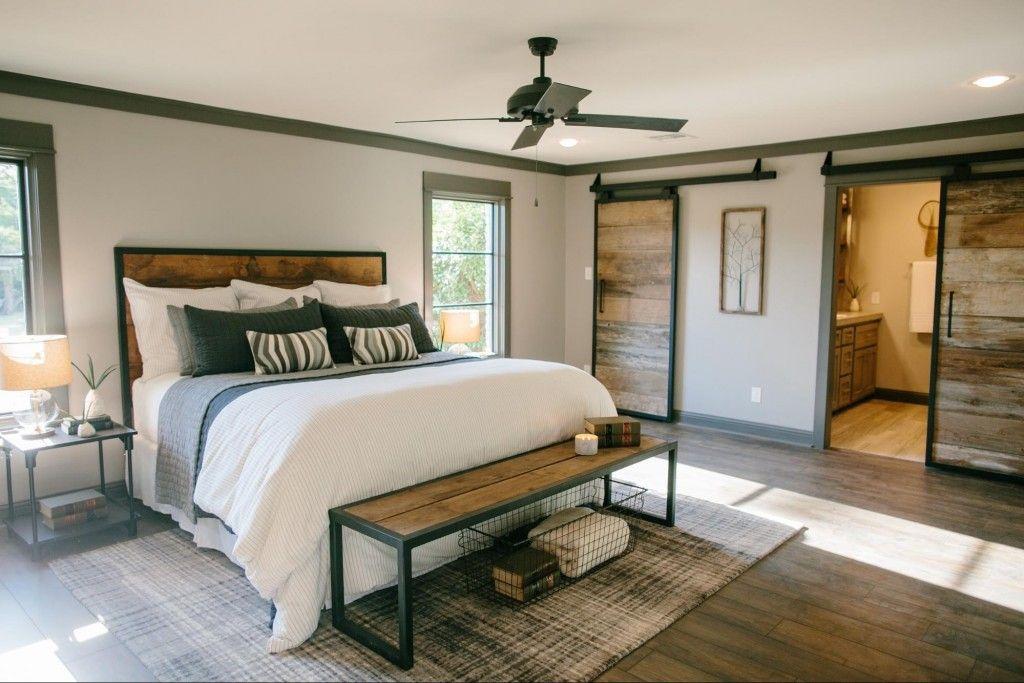 Fixer Upper Dormitorio, Recamara y Muebles de madera modernos - recamaras de madera modernas