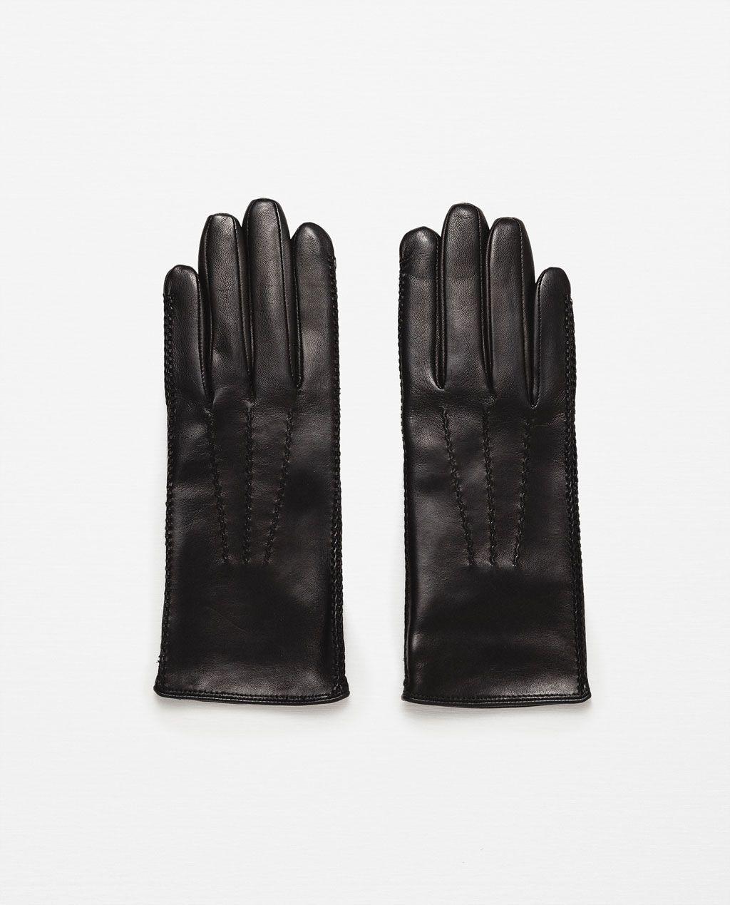 Imagen 1 de GUANTES PIEL PESPUNTES de Zara | Style | Pinterest ...