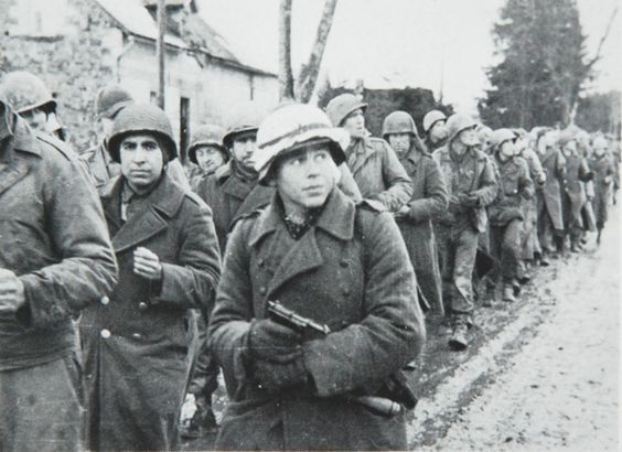 American prisoners from 99th Division captured during the ...