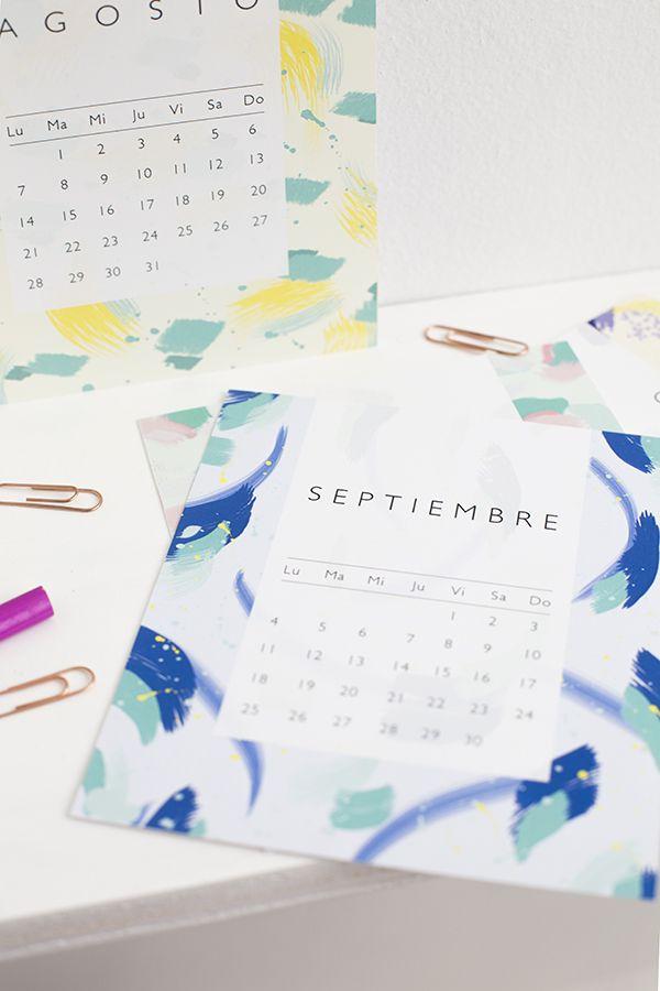 Calendario 2017 imprimible descargable Printable 2017 calendar - printable 2017 calendar