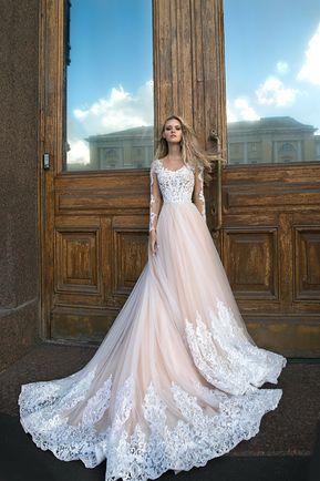 A Silhouette wedding dress Greyst by Olivia Bottega long   Etsy