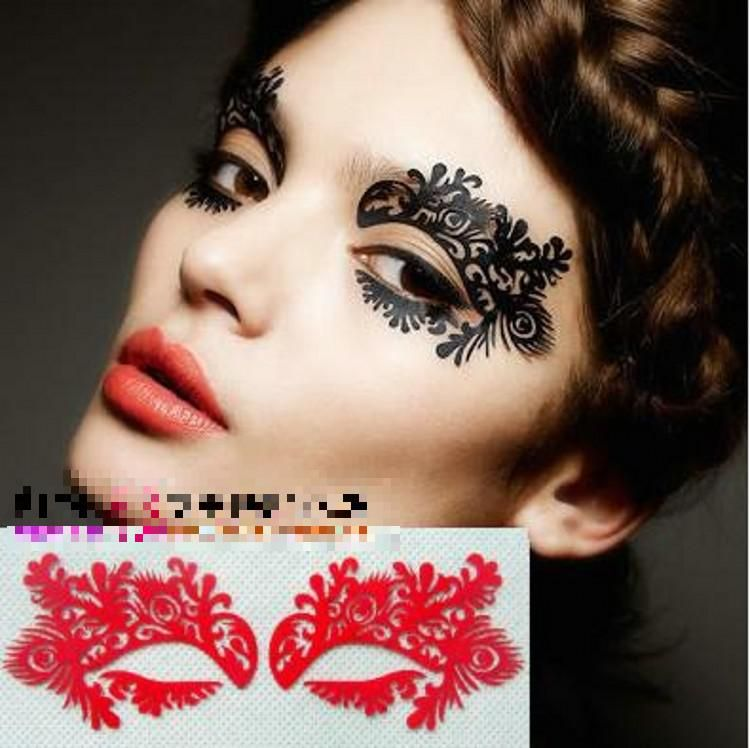 Face Lace Eye Shadow Sticker Makeup Artistic Eye Mask Club ...