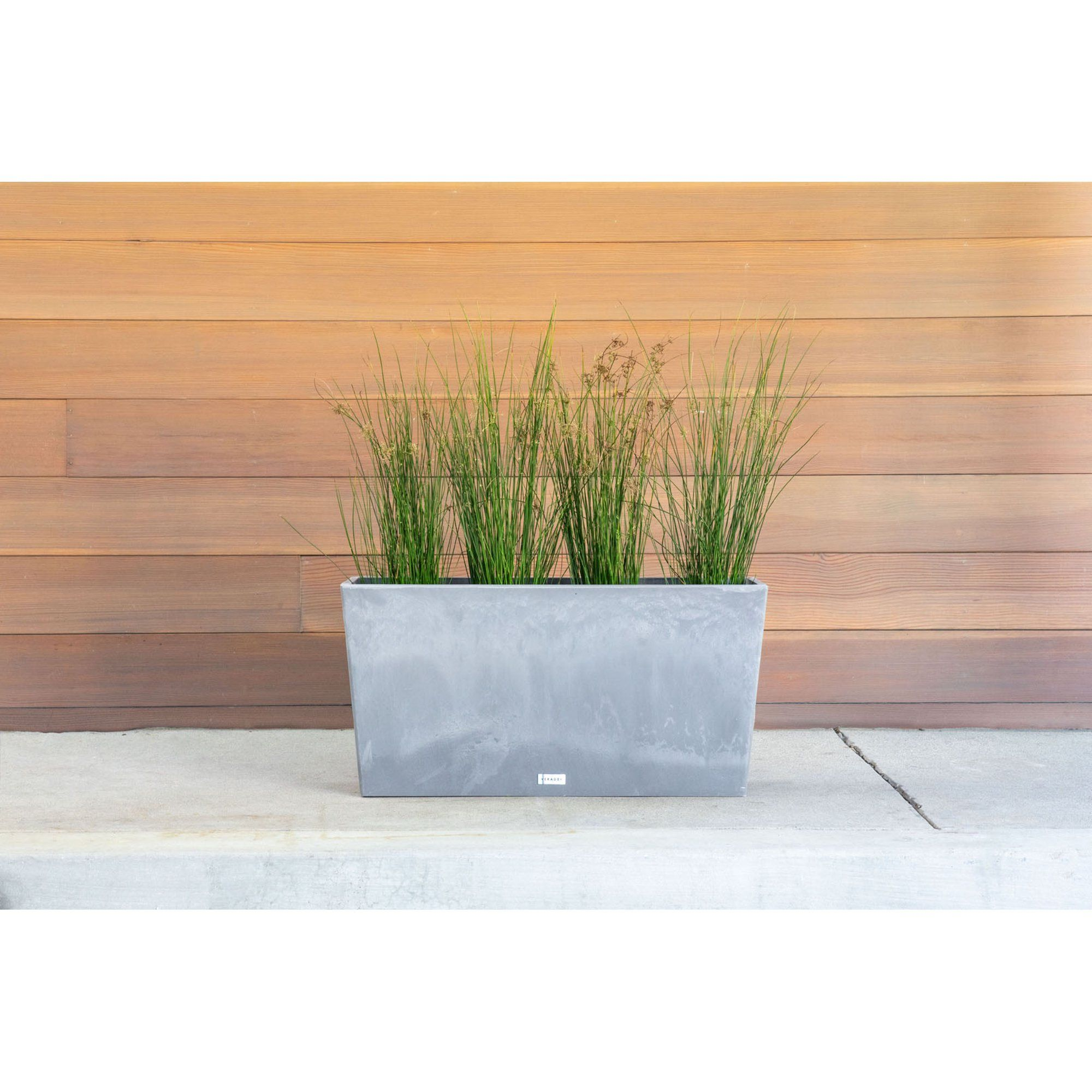 "Veradek Midori 31"" Trough Planter Charcoal"