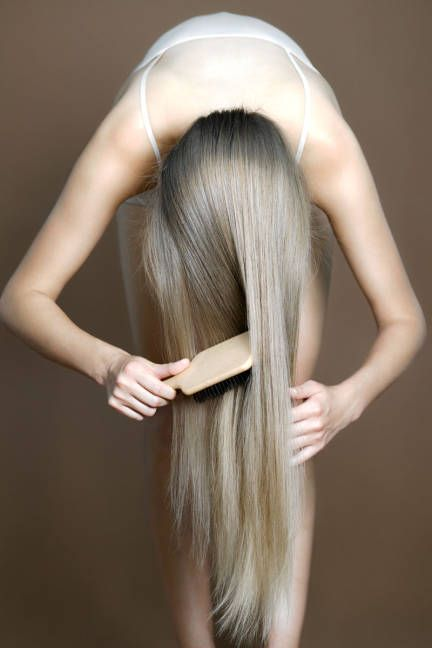It may sound peculiar but it actually helps in hair growth. Flip your head for 2-4 minutes and softly comb your roots which will bring natural oil to the end of the hair. This will also help to stimulate the hair follicles by reversing the blood flow.