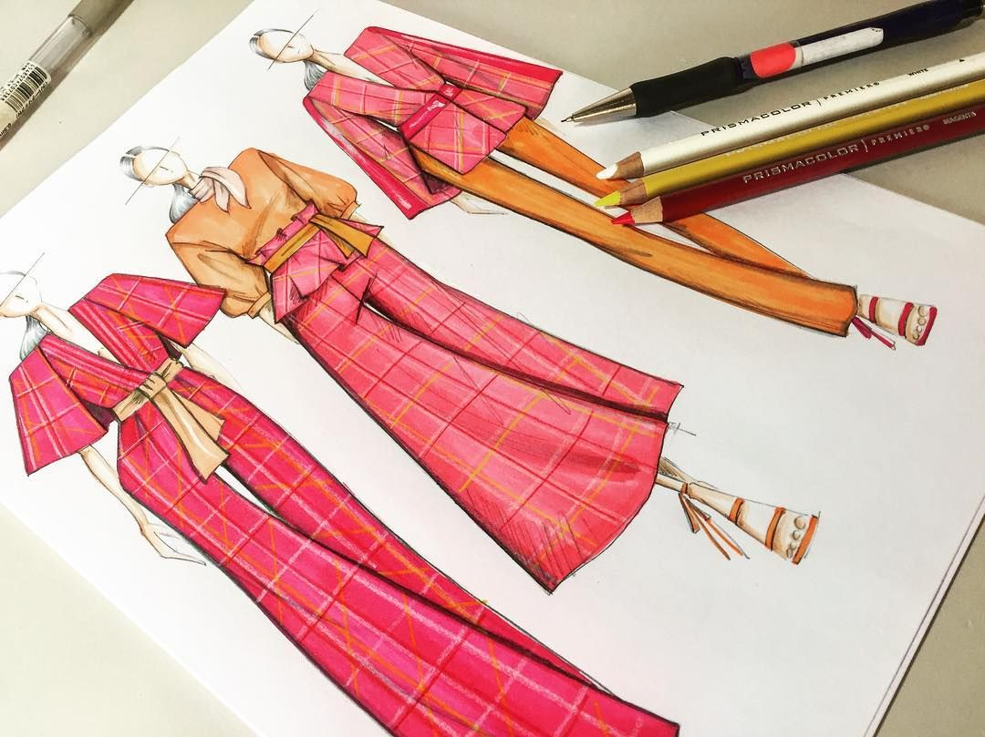 "Photo of B DESIGN STUDIO on Instagram: ""Check Mates 😉 #sketching #sketch #draw #drawing #desenho #croquis #design #designer #fashionart . . . . . . #fashion #fashiondesign…"""