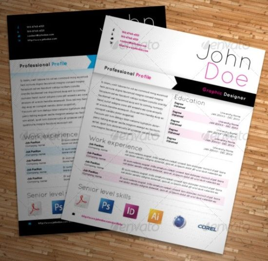 25 Superb Resume Templates Graphic Design Pinterest Template - resume templates for graphic designers