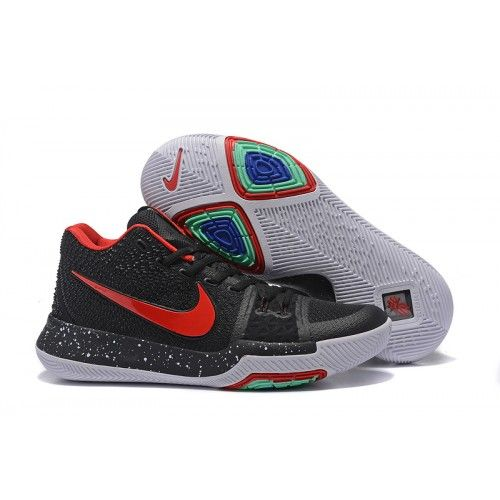 0f3019ad96a Nike Kyrie 3 EP Mens Basketball Shoe Black Total-Crimson White in ...