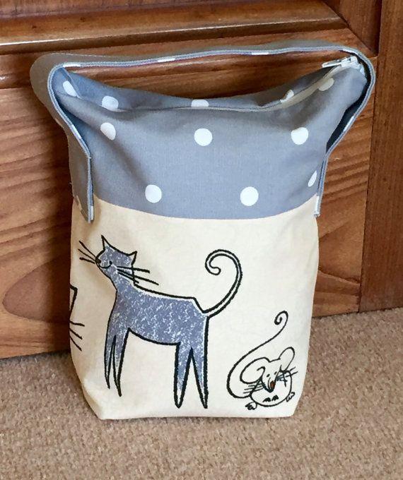 Door Stop Fabric Doorstop Door Stopper Handmade Door Stop Cats Cat And Mouse Door Stop Grey Spot Door Stopper Cat Doorstop Door Stop