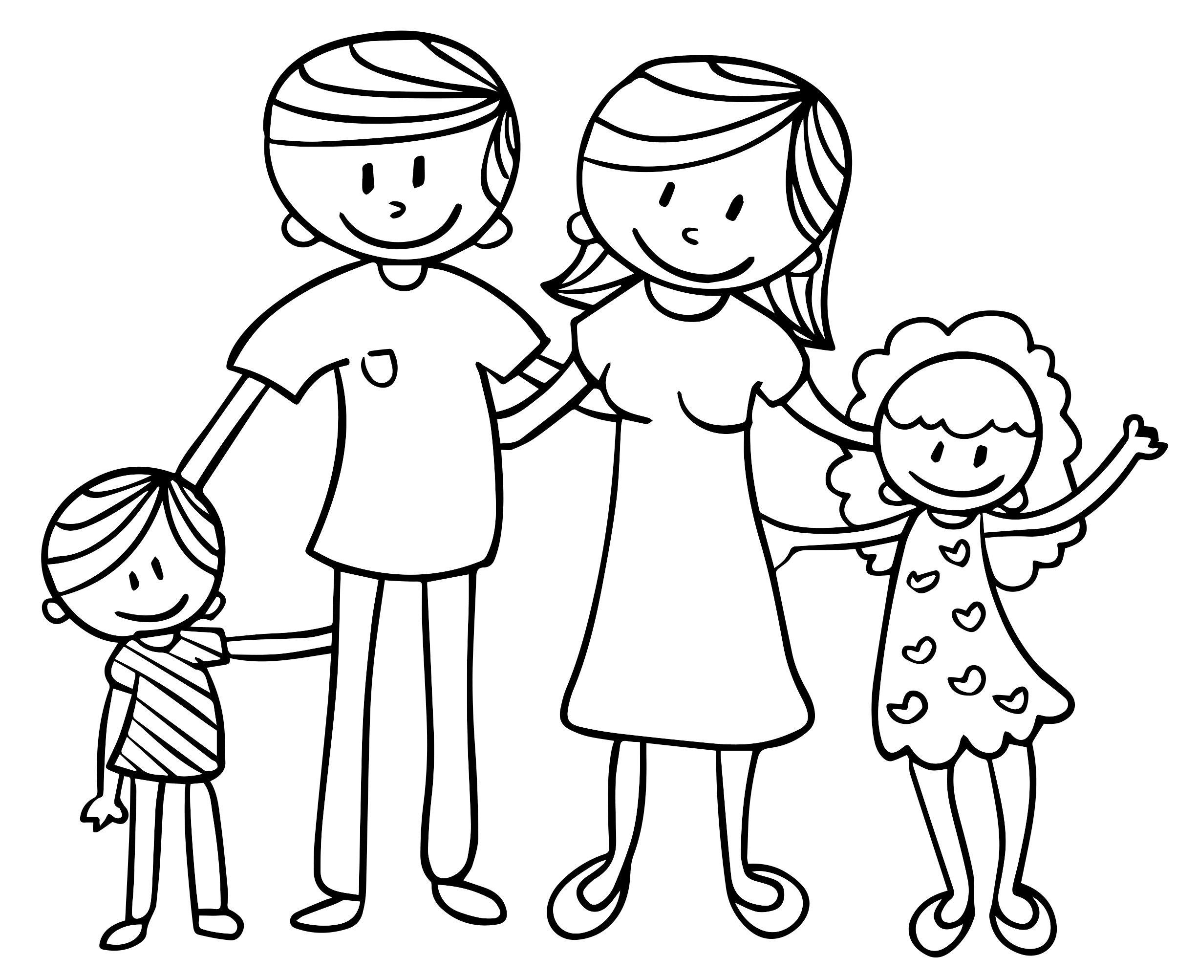 Картинки раскраски с семьей