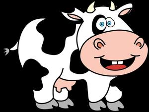 Publicdomainvectors Org Funny Cow Kartun Gambar Kartun Kartun Lucu