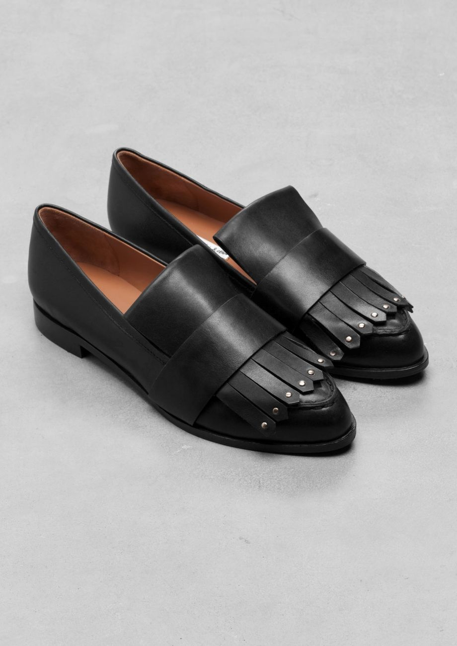 & Other Stories | Fringe Leather Loafers