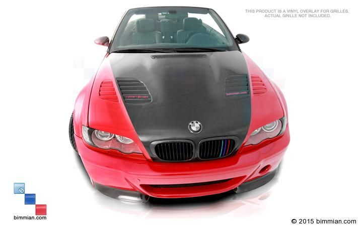 Create An Homage To M Racing Pedigree On Your Front Grille M - Bmw grille stripe decals