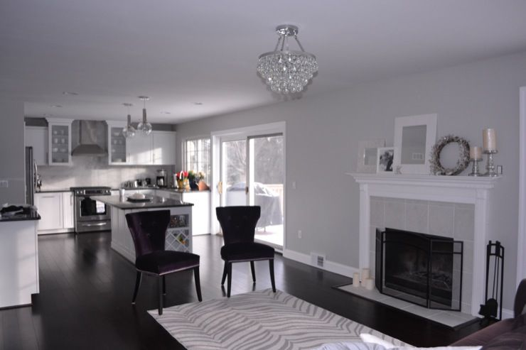These colors esp the floors living rooms behr dolphin - Gray paint living room ...