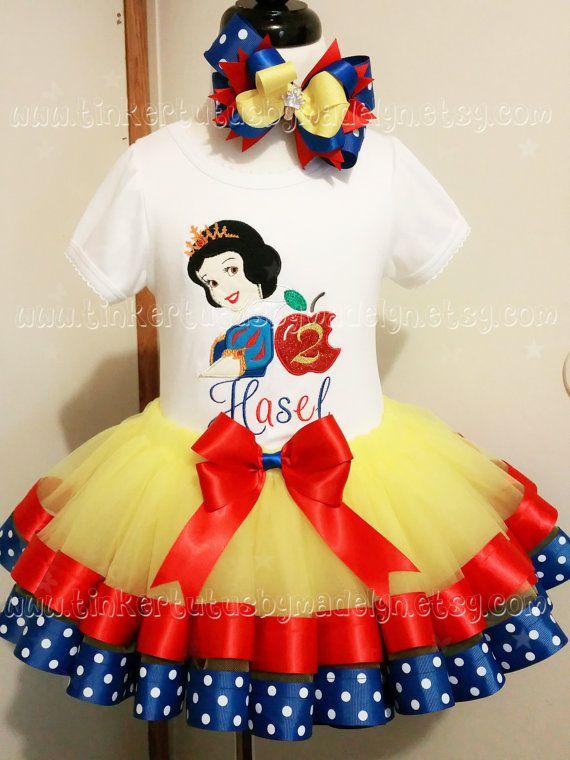 b8817694640 snow white tulle dress birthday outfit 1st birthday tutu inspiredby disney  tutu set toddler hair bow birthday ribbon trim tutu yellow tutu
