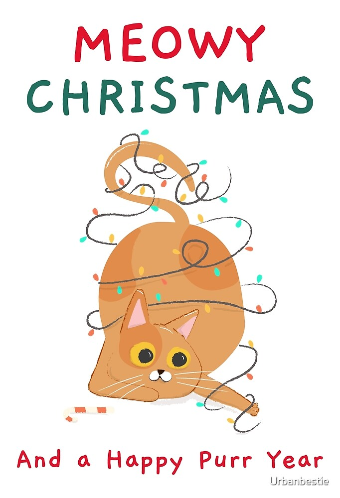 Funny Christmas Cat Holidays By Urbanbestie Redbubble Christmas Humor Christmas Cats Cat Holidays
