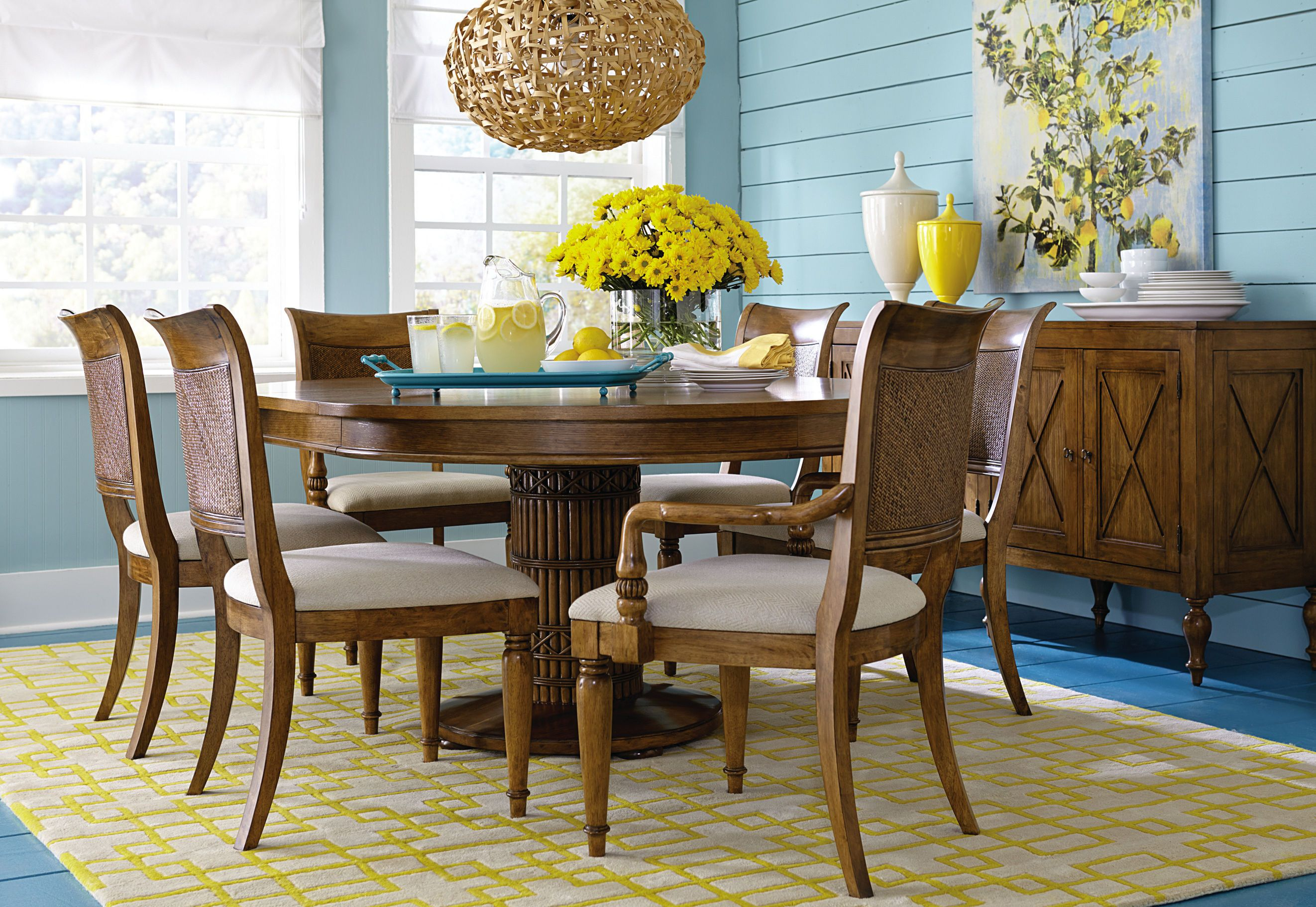 Dining Room table made by Bassett Furniture. Shop this