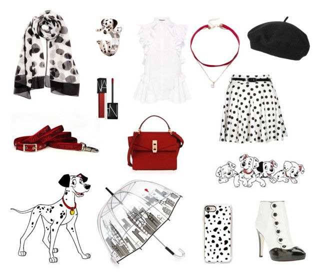"""""""Pongo-101 Dalmatians"""" by jessicabiancaofficial ❤ liked on Polyvore featuring Moschino Cheap & Chic, Casetify, Felix Rey, Alexander McQueen, Boohoo, Topshop, NARS Cosmetics and Henri Bendel"""