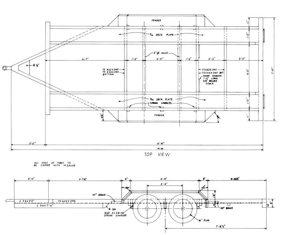 16 car trailer building plans cd car hauler truck farm how to cd rh pinterest com