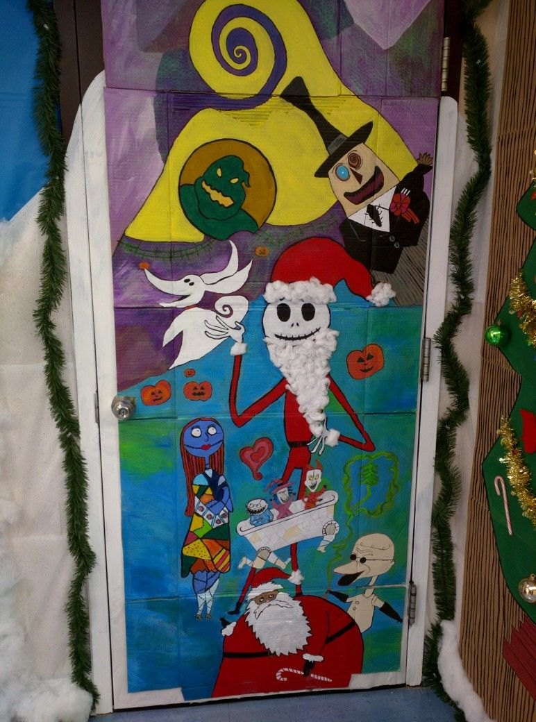 Nightmare Before Christmas Door Decorations Nightmare Before Christmas Decorations Christmas Classroom Door Christmas Classroom