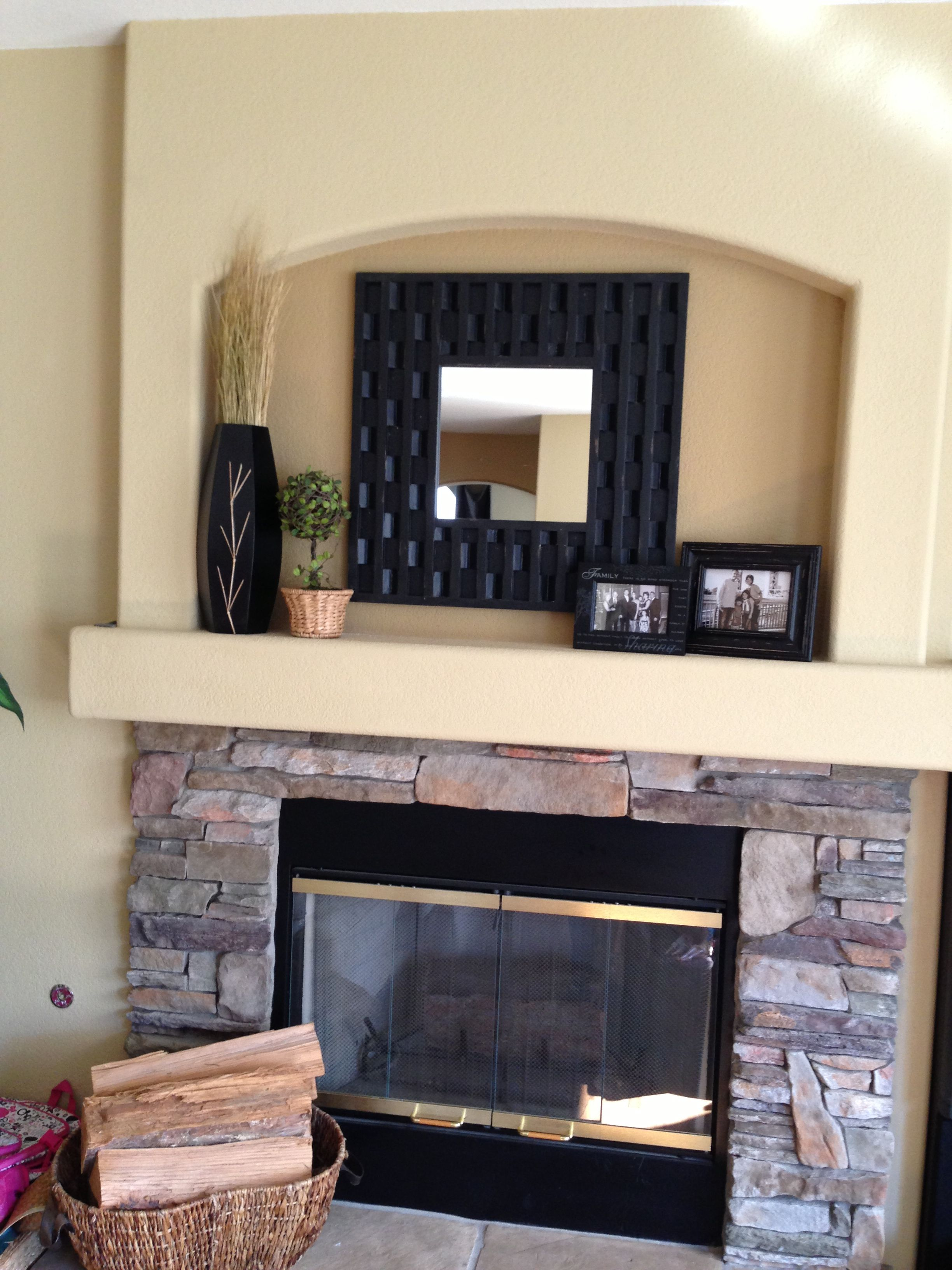 Family room decor mantle fireplace great deals at for Room decor marshalls