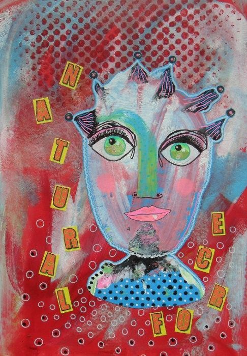 Naive Painting  Folk Art Collage  ArtBeatriceM  by ArtBeatriceM