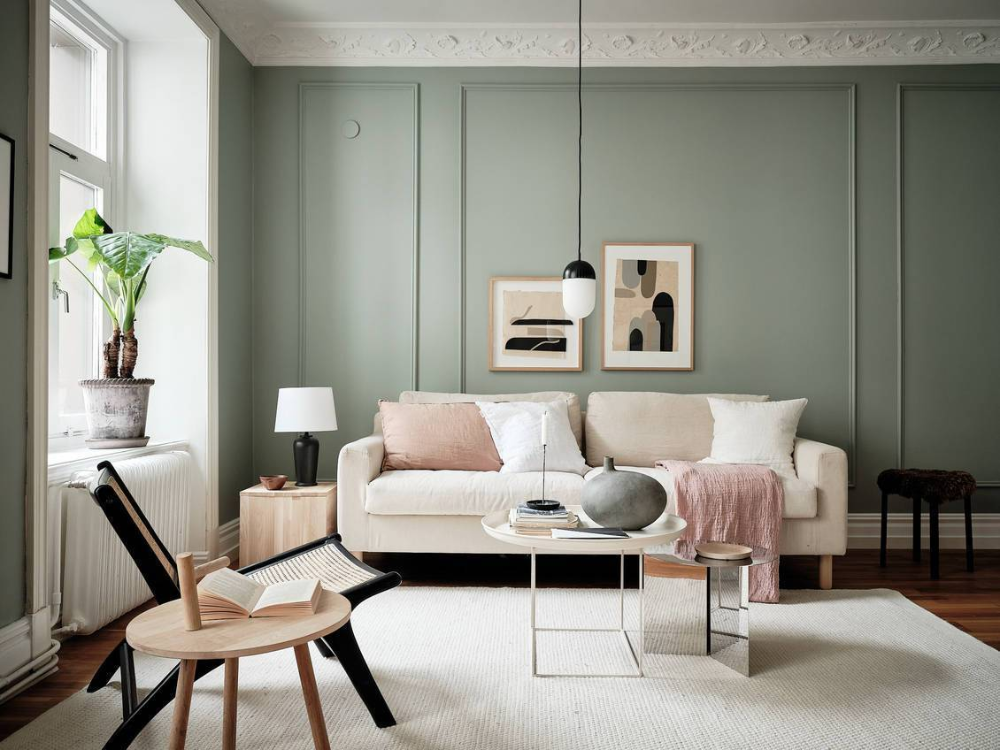 Home in green in 2020 (With images) | Warm decor, Beige ...