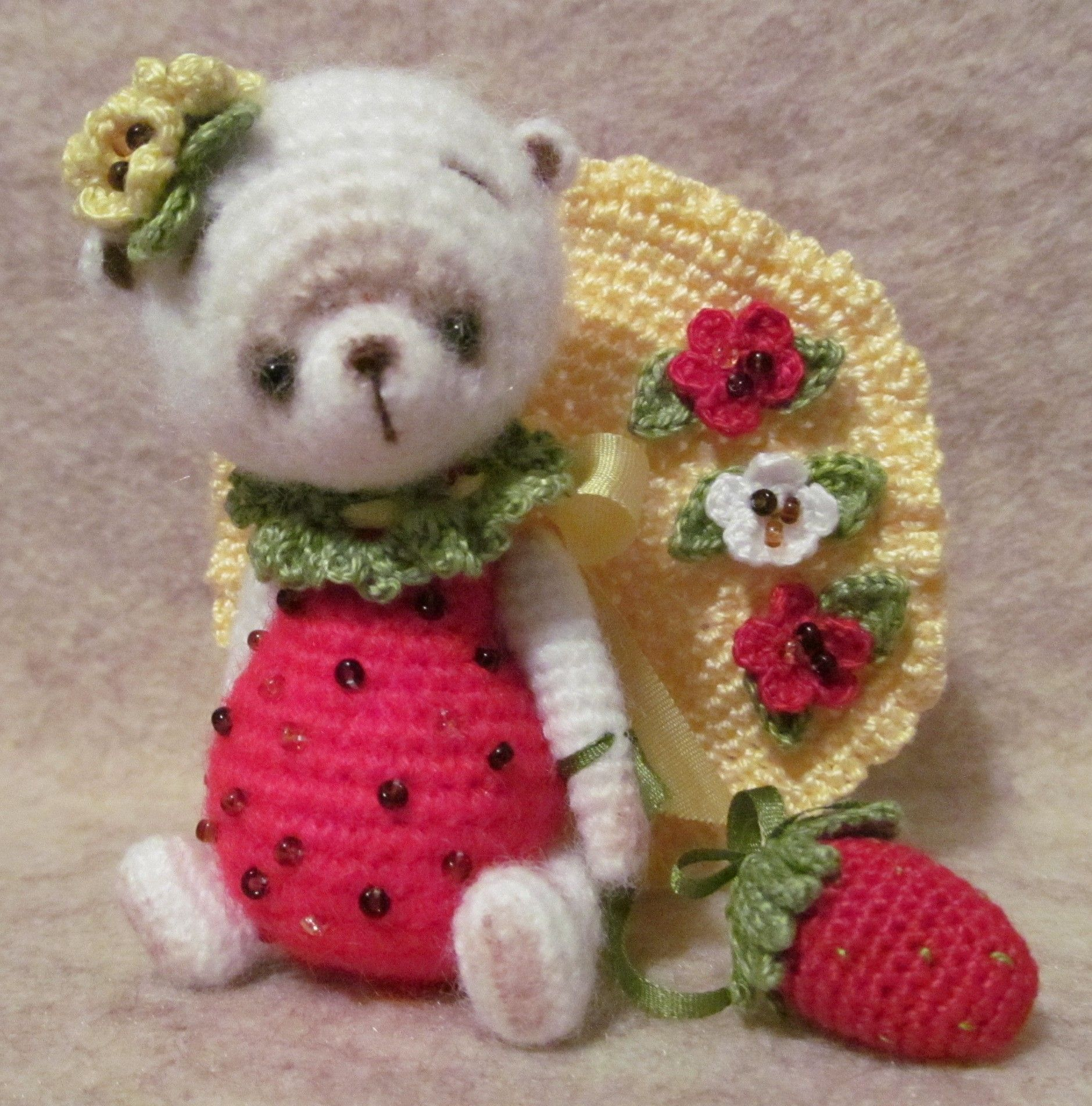 Pin by bayou bears crocheted thread artist bears joanne noel on my berry bear patternscrochet patternscare bankloansurffo Choice Image