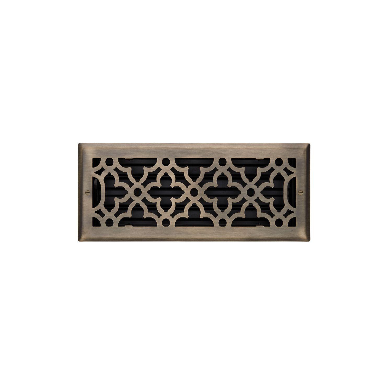 Ballas Steel Wall Register In Black In 4 X 12 5 1 4 X 13 3 8 Overall Signature Hardware Steel Wall Steel Flooring