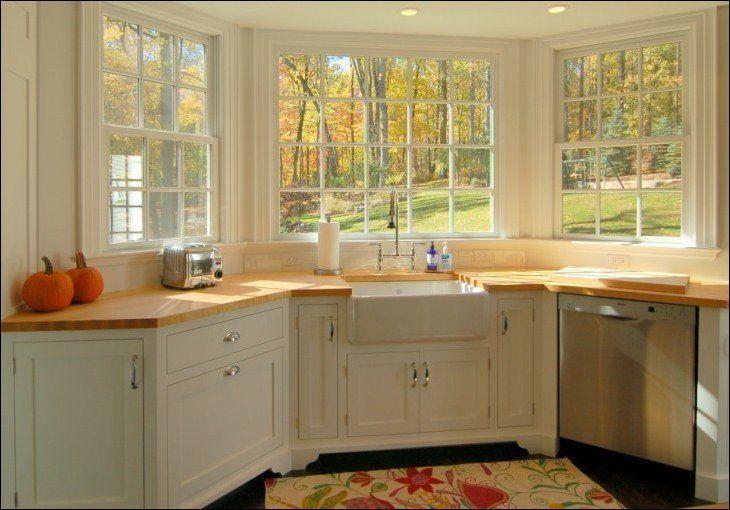 20 Gorgeous Kitchen Designs With Bay Windows Housely Kitchen Remodel Small Kitchen Bay Window Kitchen Sink Remodel