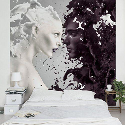 Apalis Vliestapete Milk und Coffee Fototapete Quadrat Vlies - tapeten fürs schlafzimmer