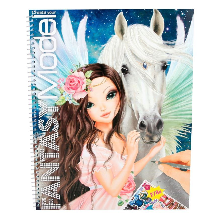 Create Your Fantasy Model Colouring Book | What I want for my b-day ...