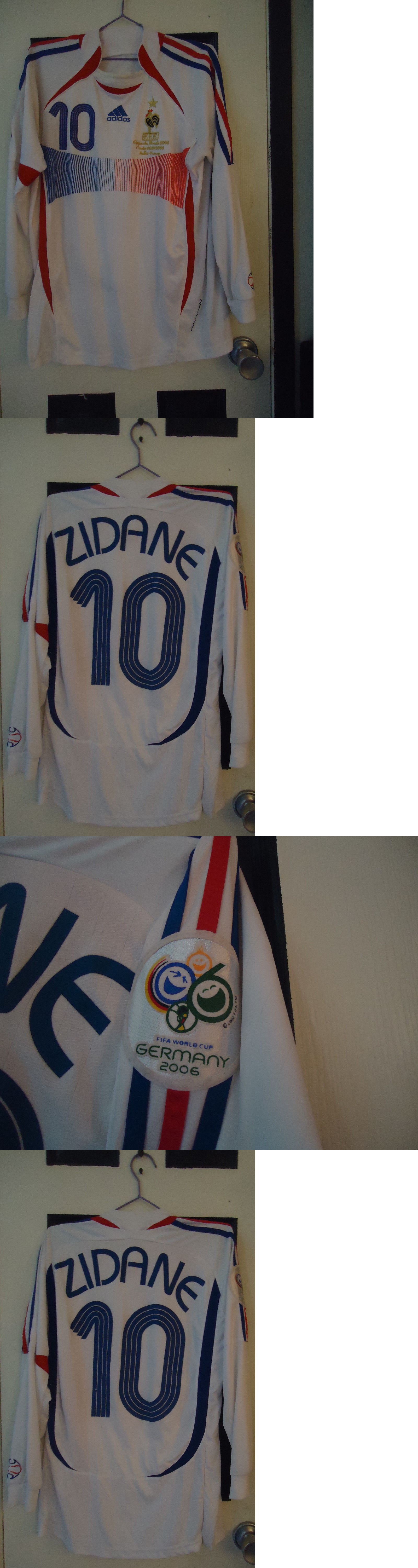 1ab44b37ec1 Vintage Zinedine Zidane France Euro Cup 1996 Adidas soccer football Jersey  shirt sz L Soccer-National Teams 2891 Zidane 2006 Fifa World Cup Final  France ...