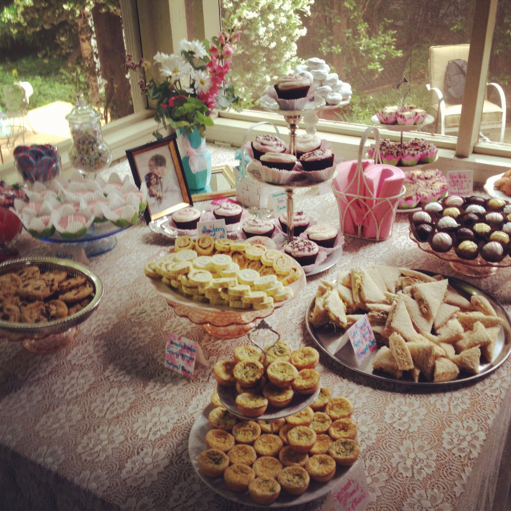 English Tea Party Ideas: Mini Quiches, Roll Up Sandwiches, Petite Just A Thought On
