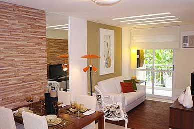 Casas pequenas decoradas sala de jantar e tv dicas de for Salas pequenas y baratas
