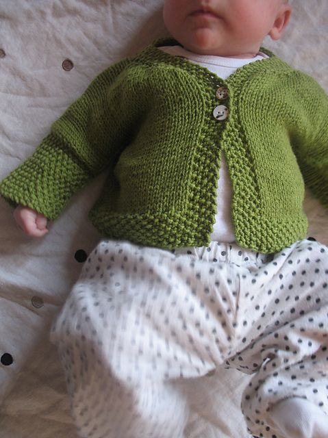 9efe4db02ead Easy Baby Cardigan pattern by Joelle Hoverson