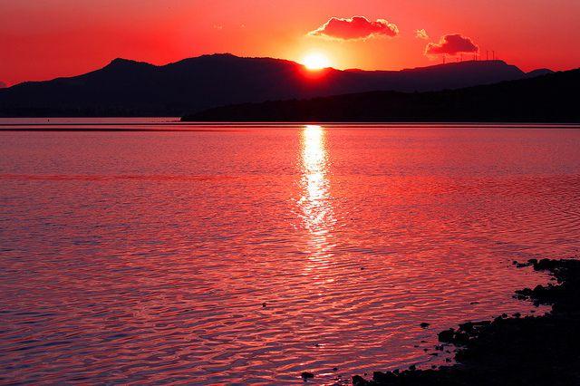 Sunset in Isla del Ciervo, Mar Menor, Cartagena, Spain  by marathoniano, via Flickr