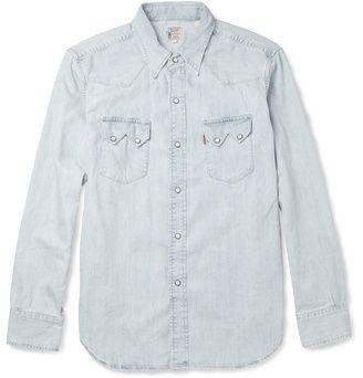 02dcba71d1 1955 Bleached-Denim Shirt by Levis Vintage Clothing
