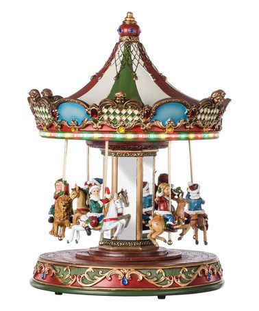 Another great find on #zulily! Musical Light-Up Rotating Carousel - christmas carousel decoration