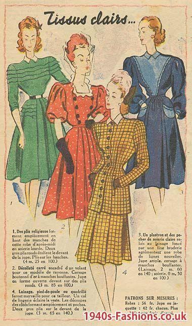 1946 Fashion Jpg 380 643 Historical Fashion 1940s Fashion Vintage Dress Patterns