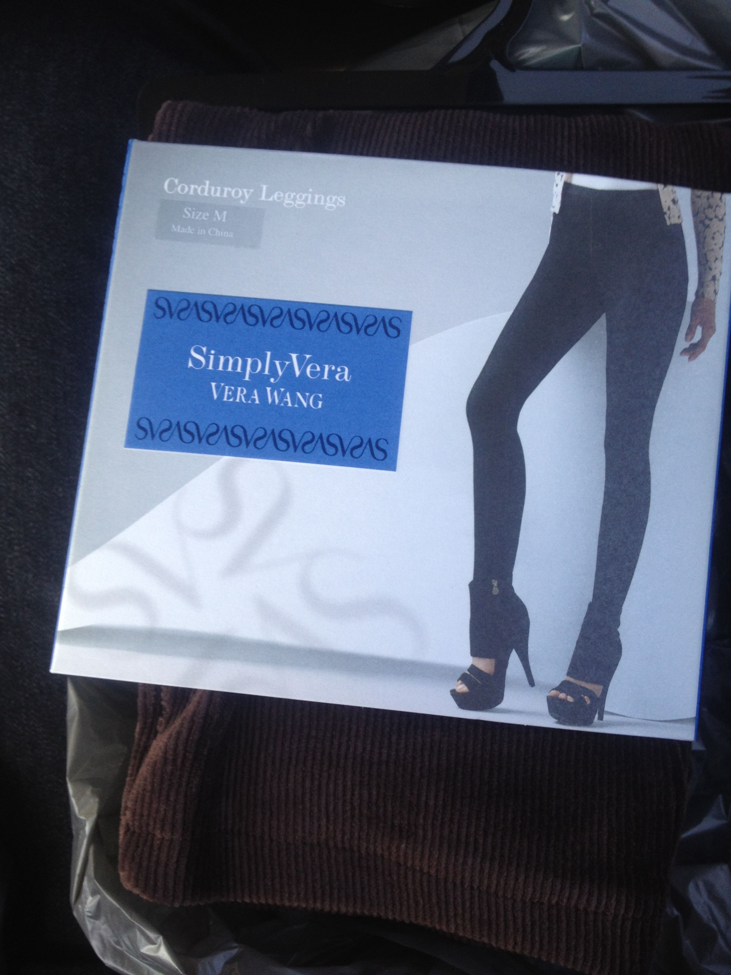 Corduroy #leggings from Vera Wang's SimplyVera!  Banded waist, front fly stitching, real back pockets, & denim inspired stitching. www.fromgirltogirl.com . $24.81