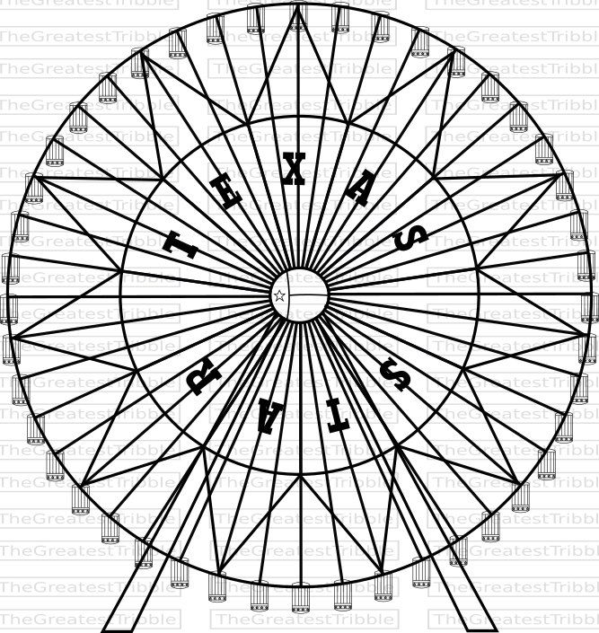 Ferris Wheel Texas Star Ferris Wheel Svg Png Jpg Vector Etsy In 2021 Star Coloring Pages Texas Star Star Svg