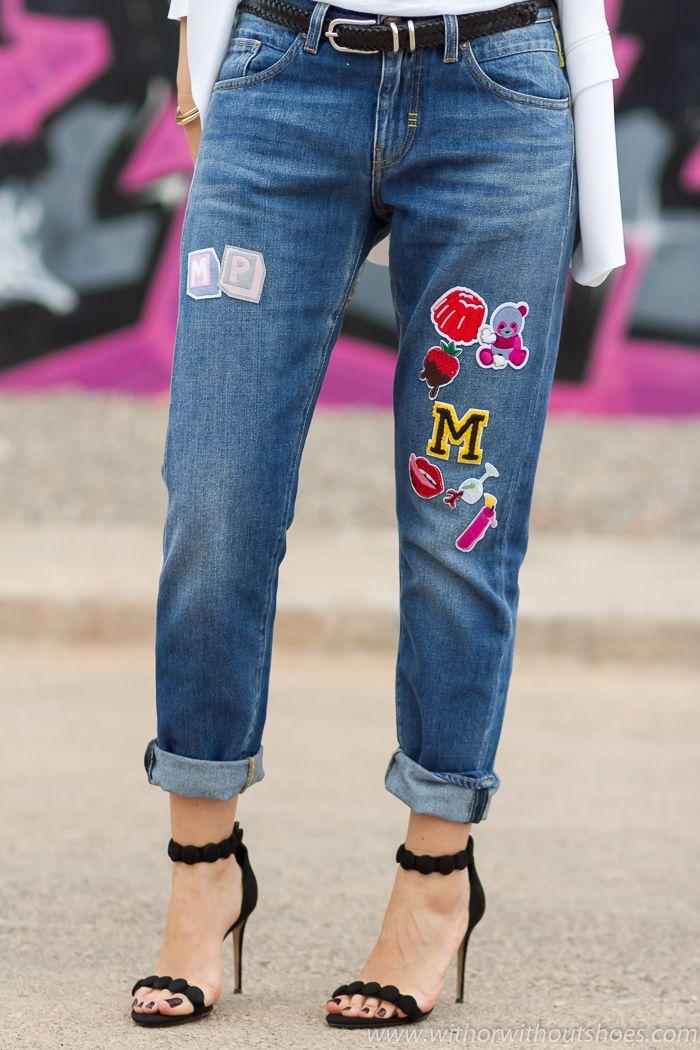 De Tacón Urban Pot Look Jeans Con Y Chic Parches Meltin' Sandalias FJTlK1c