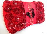 Minnie Mouse inspired wipes case/clutch.